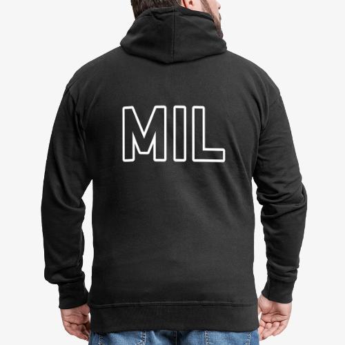 MIL_140%_Vektor_Outline_W - Männer Premium Kapuzenjacke