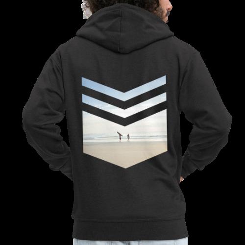Surf Beach Triangle - Männer Premium Kapuzenjacke