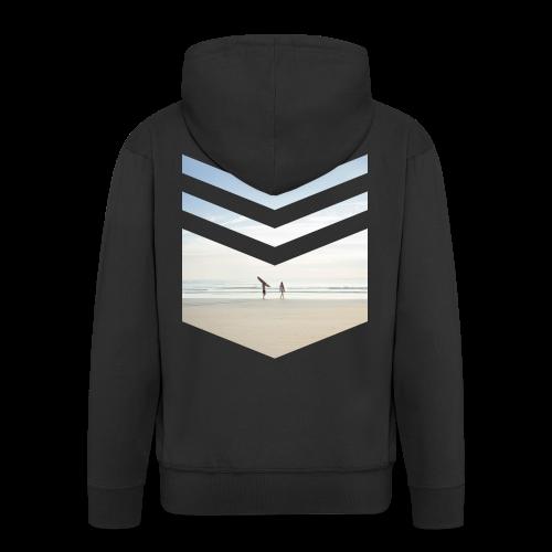 Surfing Beach - Männer Premium Kapuzenjacke
