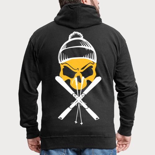 ski skull1 - Männer Premium Kapuzenjacke