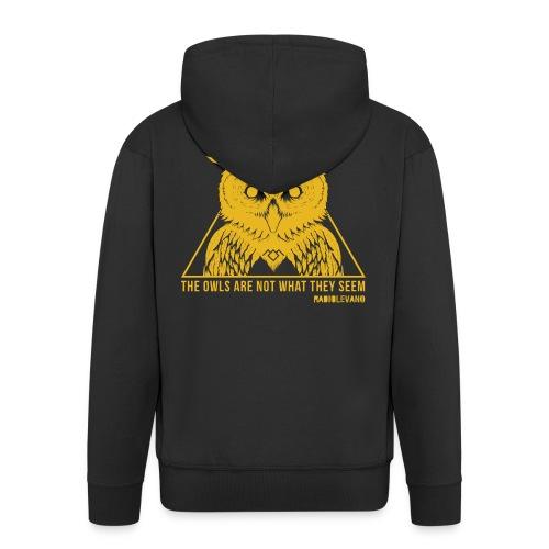 THE OWLS ARE NOT WHAT THEY SEEM - RADIOLEVANO - Felpa con zip Premium da uomo