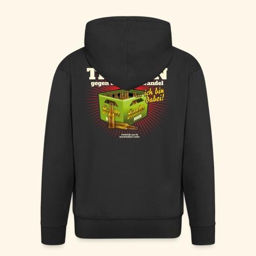 Bier T Shirt Trinken gegen den Klimawandel - Männer Premium Kapuzenjacke