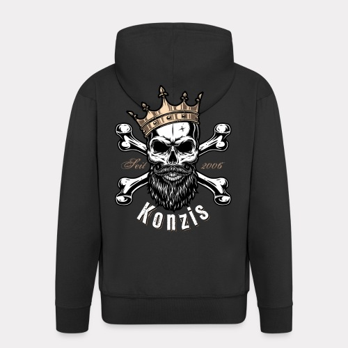 Skull Bones Logo - Männer Premium Kapuzenjacke