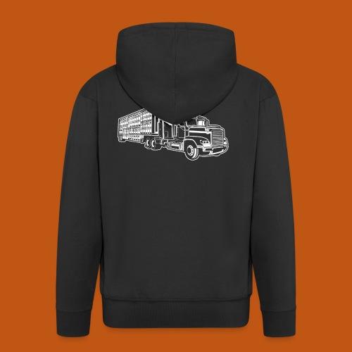 Truck / Lkw 01_weiß - Männer Premium Kapuzenjacke