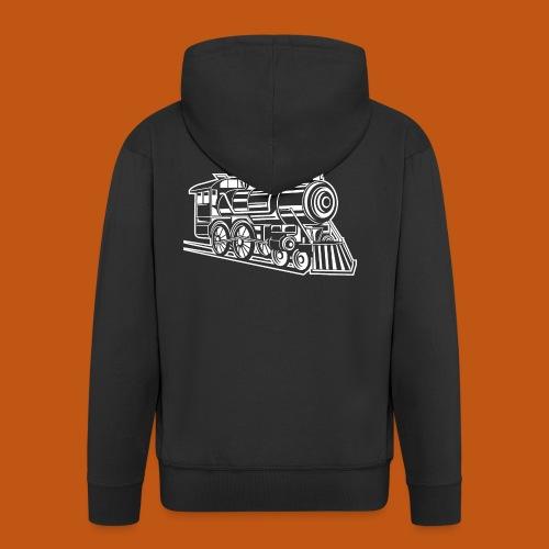 Lokomotive / Locomotive 01_weiß - Männer Premium Kapuzenjacke