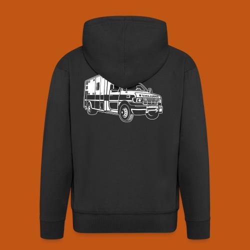 Krankenwagen / Rettungswagen 01_weiß - Männer Premium Kapuzenjacke