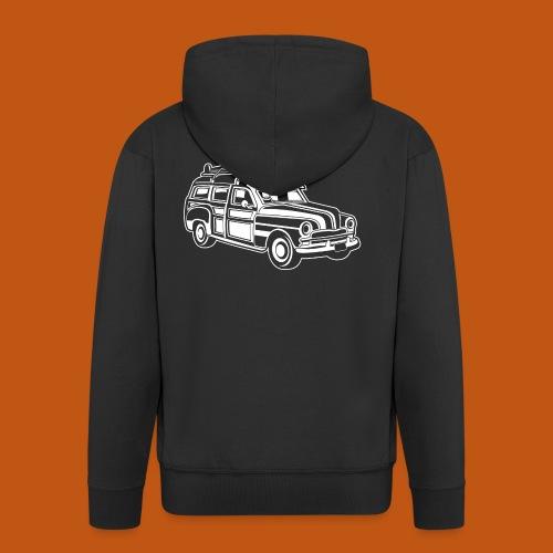Chevy Cadilac Woodie / Oldtimer Kombi 01_weiß - Männer Premium Kapuzenjacke