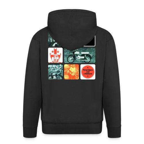 Simson Star Moped - Men's Premium Hooded Jacket