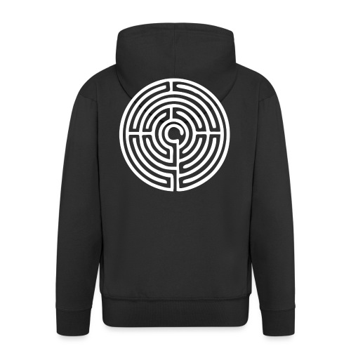 Labyrinth Schutzsymbol Lebensweg Magie Mystik - Männer Premium Kapuzenjacke