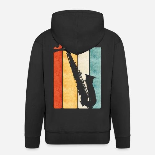 Jazz Saxophon Retro - Männer Premium Kapuzenjacke