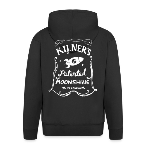 Kilner's Patented Moonshine (White) - Men's Premium Hooded Jacket