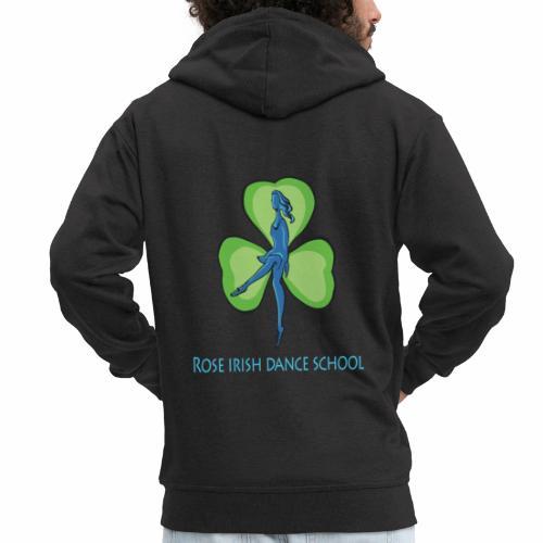 Rose Irish Dance School logo - Mannenjack Premium met capuchon