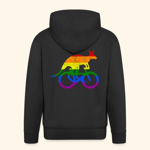 Radfahrer Känguru lustiges Fahrrad Regenbogenfahne - Männer Premium Kapuzenjacke