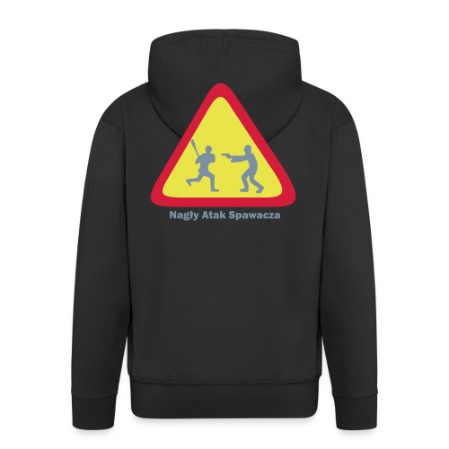 NAS Brat Juzef - Rozpinana bluza męska z kapturem Premium