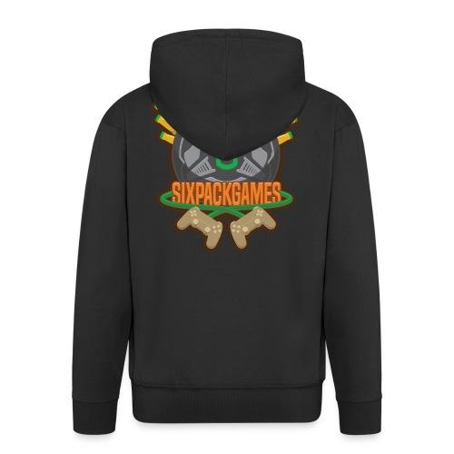 Sixpack Games Logo - Men's Premium Hooded Jacket