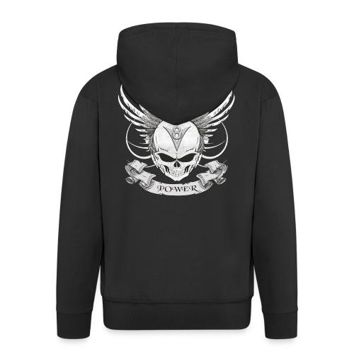 V8 Logo mit Skull im Tattoo Design - Männer Premium Kapuzenjacke