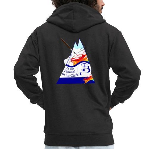 Logo colori - Felpa con zip Premium da uomo