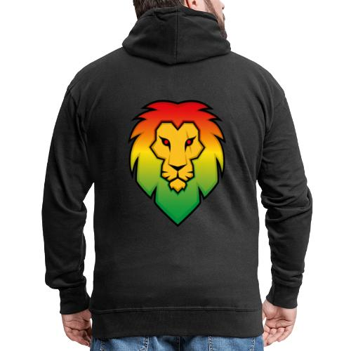 Ragga Lion - Men's Premium Hooded Jacket