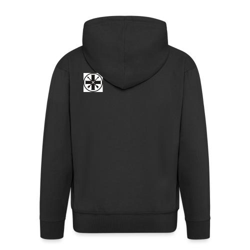 kreuz_schwarz - Männer Premium Kapuzenjacke