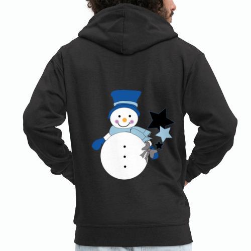 Snowtime-Blue - Männer Premium Kapuzenjacke