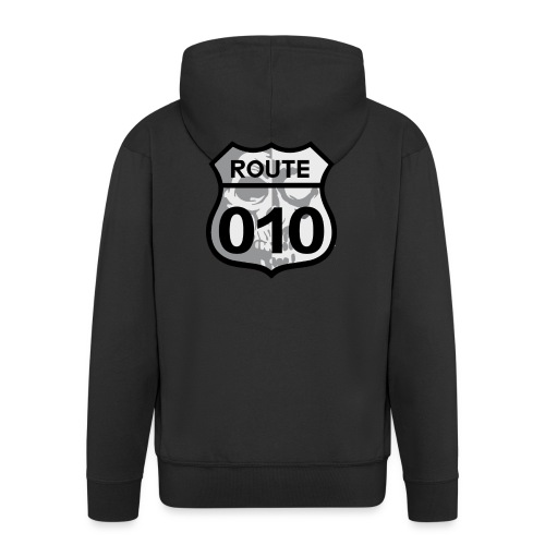 ROUTE-O10-skull-rugpatch-2-png - Mannenjack Premium met capuchon