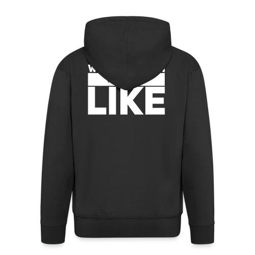 Weitschiessen Schriftzug Weiss - Männer Premium Kapuzenjacke