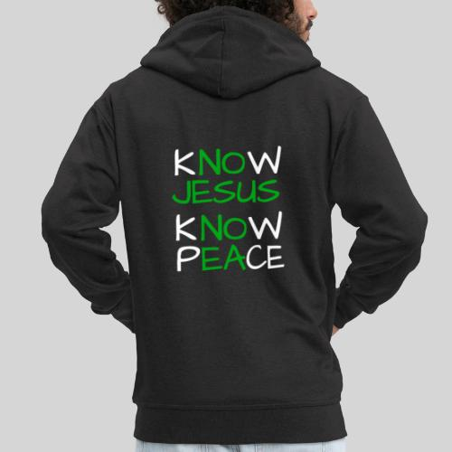 know Jesus know Peace - kenne Jesus kenne Frieden - Männer Premium Kapuzenjacke