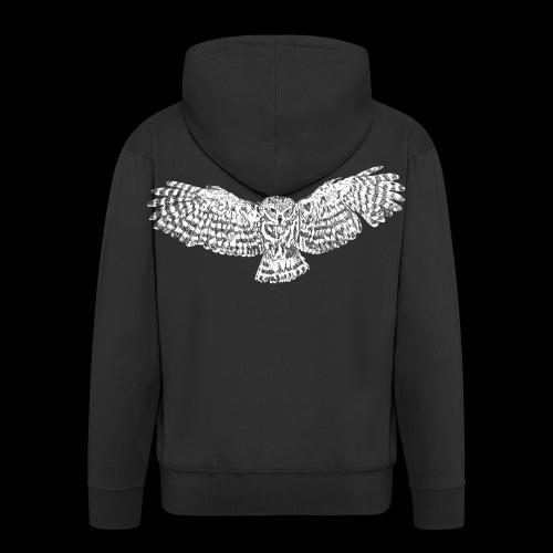 eule 001 png - Men's Premium Hooded Jacket