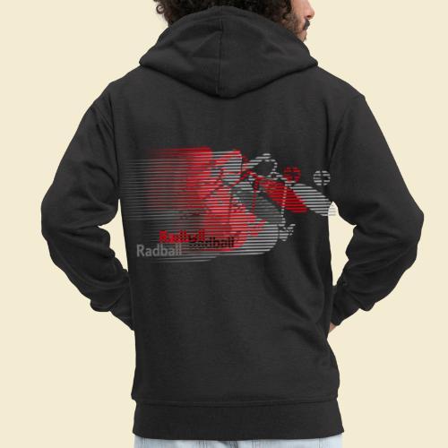 Radball | Earthquake Red - Männer Premium Kapuzenjacke