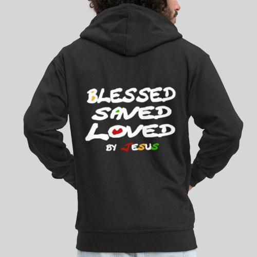 Blessed Saved Loved by Jesus - Männer Premium Kapuzenjacke