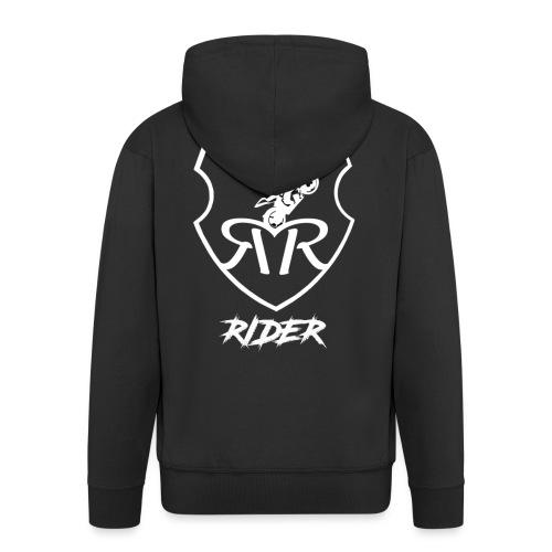 Restive logo - Men's Premium Hooded Jacket