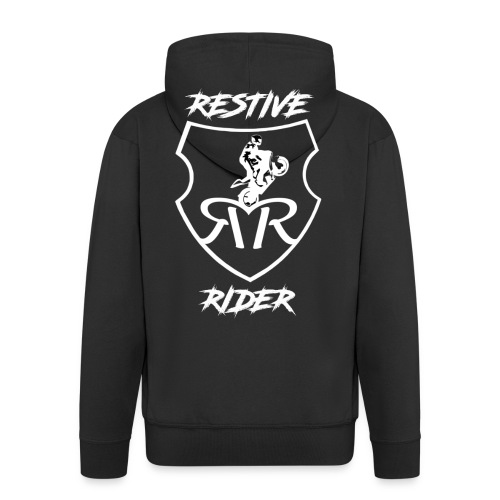 Restive logo - Men's Premium Hooded Jacket