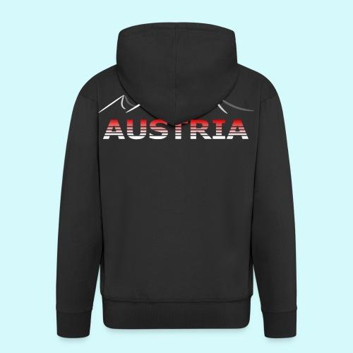 Austria - Österreich Berge T-Shirt - Männer Premium Kapuzenjacke