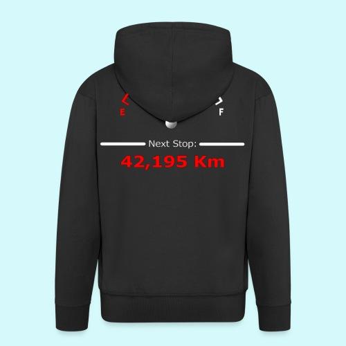 Laufen / Run 42 km - Next Stop - Laufmotivation - Männer Premium Kapuzenjacke
