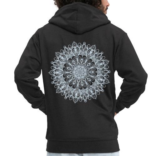 Mandala Zeichnung Kreis Spirale Blumen Line Art - Männer Premium Kapuzenjacke