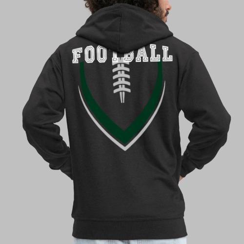 Football LOGO Ball American Football Geschenkidee - Männer Premium Kapuzenjacke