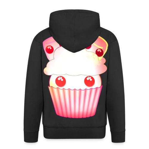 harajuku kawaii cupcake muffins med marshmallows - Men's Premium Hooded Jacket