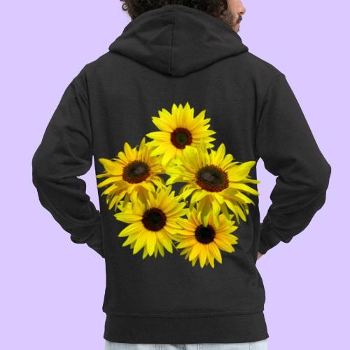 Sonnenblumenstrauss, Sonnenblume, Sonnenblumen - Männer Premium Kapuzenjacke
