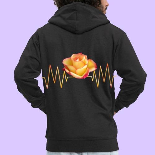 Rose, Herzschlag, Rosen, Blume, Herz, Frequenz - Männer Premium Kapuzenjacke