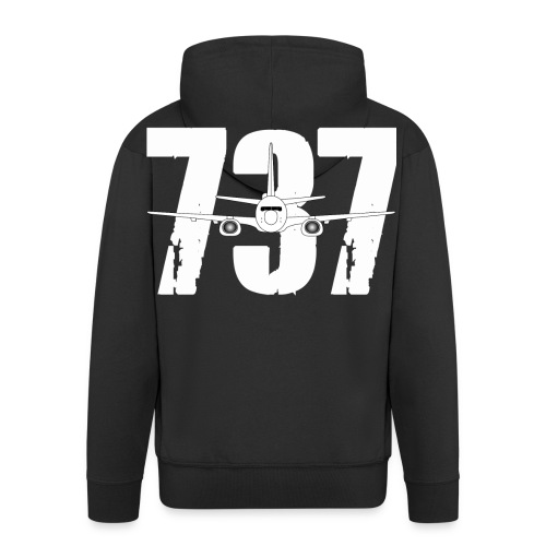 B737 new png - Men's Premium Hooded Jacket