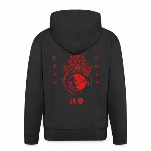 dos Rouge png - Veste à capuche Premium Homme