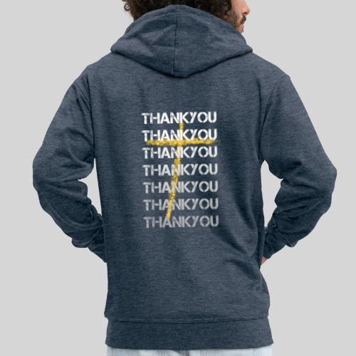 DANKE Jesus, das Geschenk für Christen THANKYOU - Männer Premium Kapuzenjacke