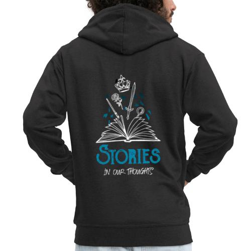 Stories In Our Thoughts - White - Men's Premium Hooded Jacket
