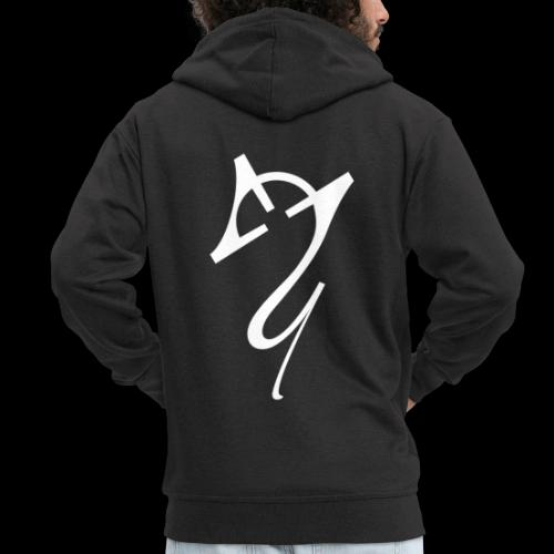 Overscoped logo White - Men's Premium Hooded Jacket