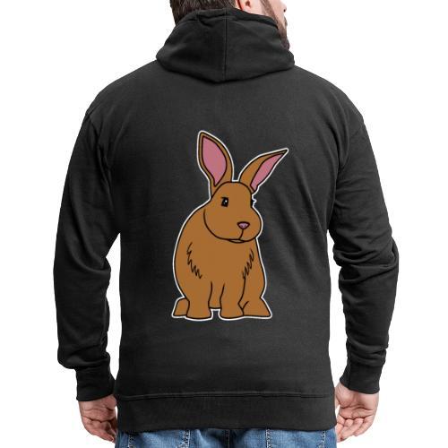 Hase, braun, süß, Comic, Geschenk, Kaninchen - Männer Premium Kapuzenjacke
