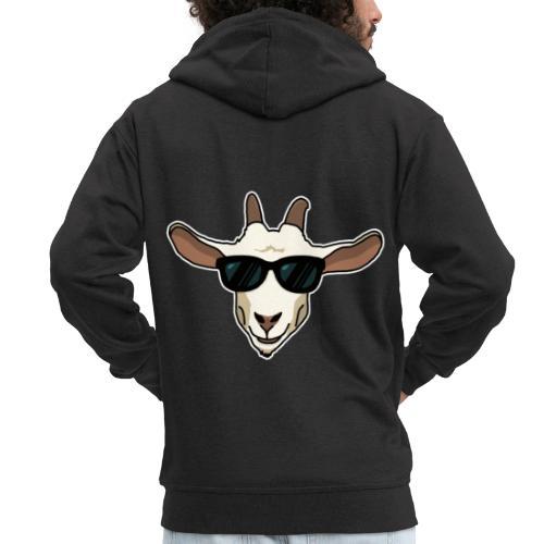 Ziege, Sonnenbrille, Tier, lustig, Geschenkidee - Männer Premium Kapuzenjacke