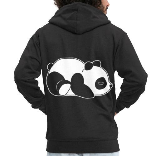 Panda, süß, Tier, Comic - Männer Premium Kapuzenjacke
