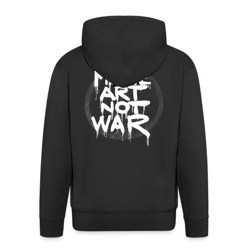 MAke Art Not War - Herre premium hættejakke
