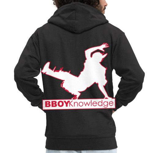 Bboy knowledge Logo Multi color,make your choice - Veste à capuche Premium Homme