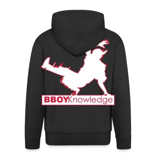 """Bboy knowledge Logo """"Multi color,make your choice"""" - Veste à capuche Premium Homme"""